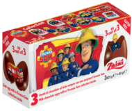 Choc. Eggs Fireman Sam 3-pack - thumbnail